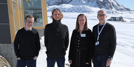 The Nordic Master in Cold Climate Engineering consortium 2018 in Sisimiut, Greenland. Photo: Sabina Askholm Larsen.